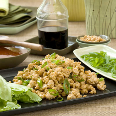 Ground Chicken Lettuce Wraps