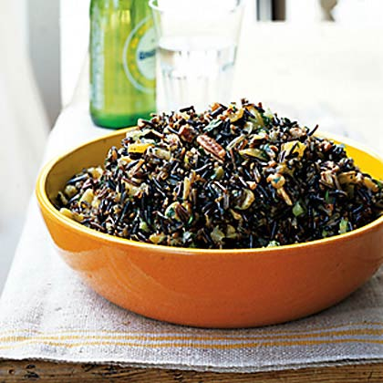 Wild Rice Salad with Dried Fruit and Orange-Sherry Vinaigrette