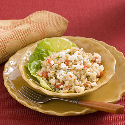 Herb-and-Pepper Brown Rice Salad