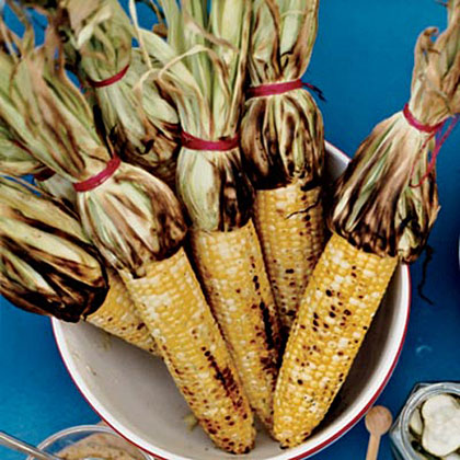 Grilled Corn with Mango-Habanero Butter