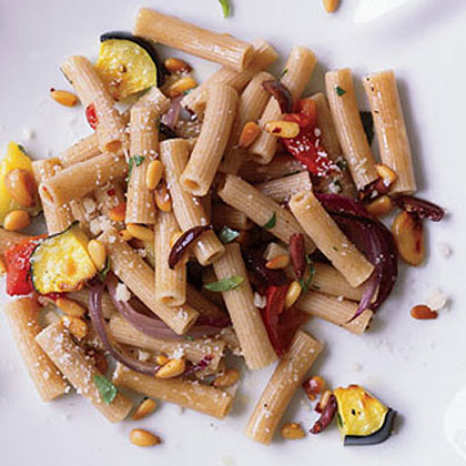 Whole Wheat Rigatoni with Roasted Vegetables