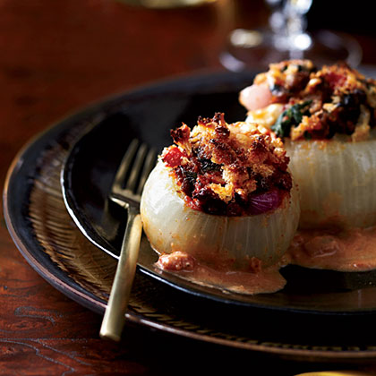 Lamb-and-Spinach-Stuffed Onions