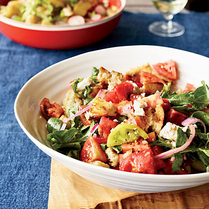 Grilled Bread and Marinated Tomato Salad