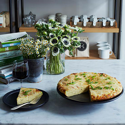 Potato-Scallion Frittata with Manchego Cheese
