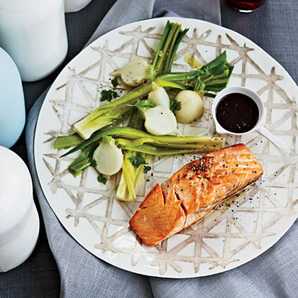 Salmon with Red Wine-Balsamic Sauce
