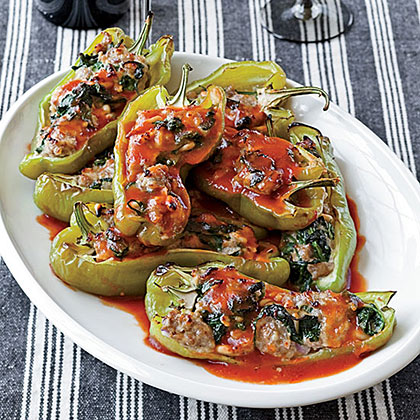 Spinach-and-Sausage-Stuffed Peppers