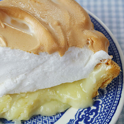 Mile High Coconut Cream Meringue Pie