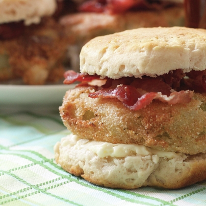 Fried Green Tomato Biscuits