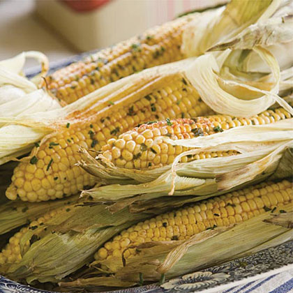Herb-Buttered Grilled Corn