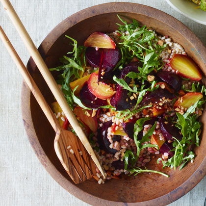 Beets and Farro with Smoky Almonds