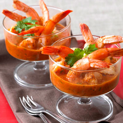 Roasted Shrimp with Smoked Chile Cocktail Sauce