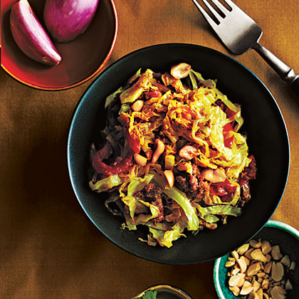 Simmered Cabbage with Beef, Shan Style