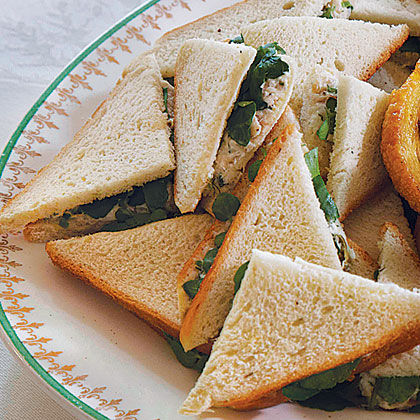 Smoked Trout and Watercress Tea Sandwiches