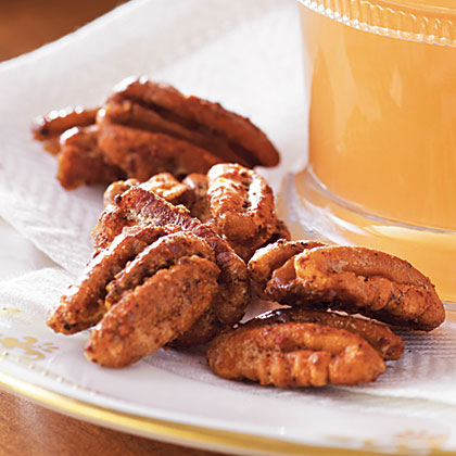 Spicy Smoked Pecans with Bacon Salt