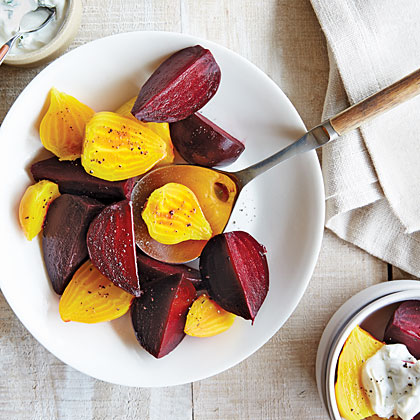 Packet-Steamed Beets With Tarragon Yogurt