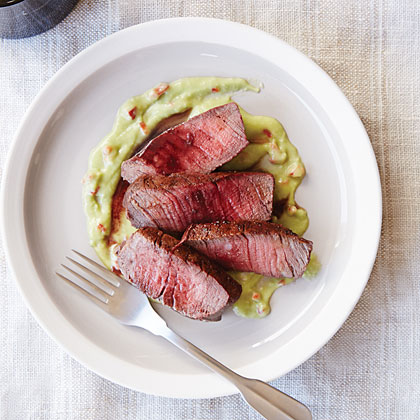 Port-Stained Beef Medallions