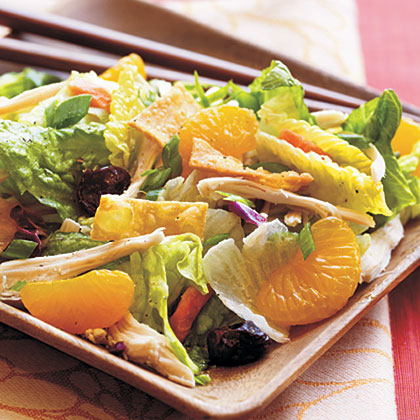 Asian Chicken Salad with Sweet and Spicy Wasabi Dressing