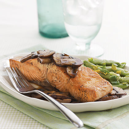 Teriyaki Salmon with Mushrooms
