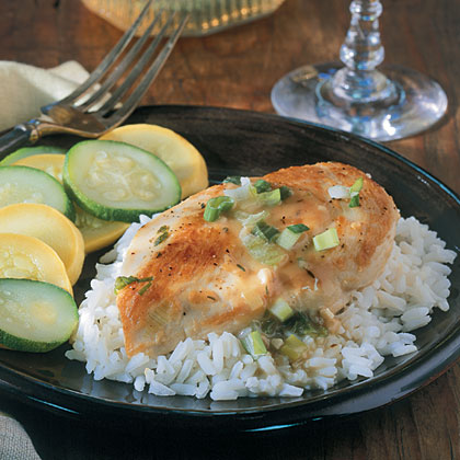 Chicken With Green Onion Sauce