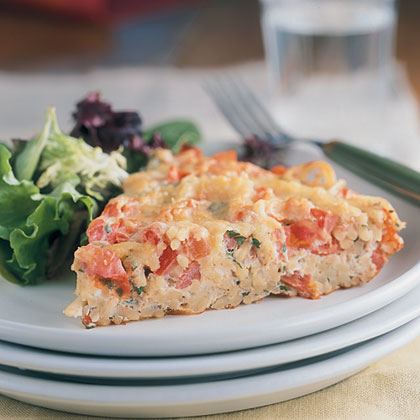 Frittata With Spaghetti And Tomatoes
