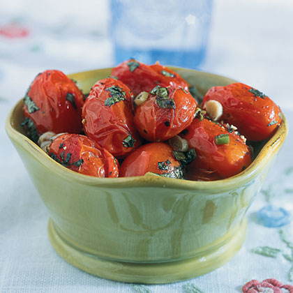 Tomatoes With Green Onions And Basil