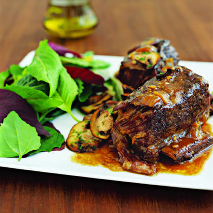 Beef Short Ribs with Mushrooms