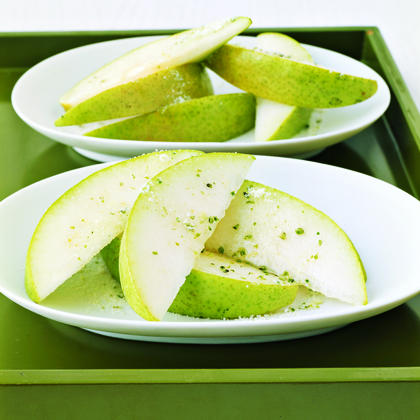 Pears with Rosemary Sugar