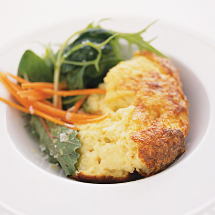 Cheese, Onion and Bread Souffle