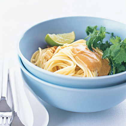 Cold Noodle Salad with Peanut Butter Dressing