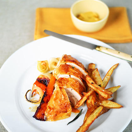 Roast Chicken with Oven Fries