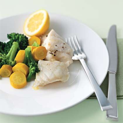 Steamed Fish and Vegetables