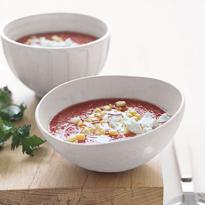Gazpacho with Goat Cheese