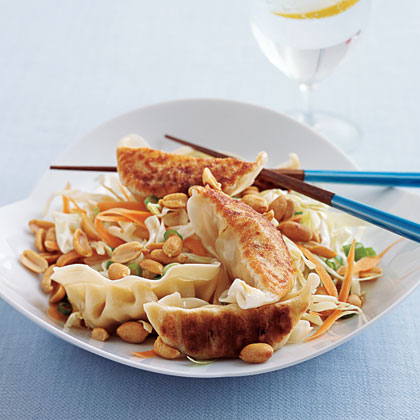 Dumplings with Soy Slaw