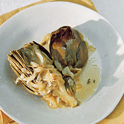 Lemon-Braised Artichokes