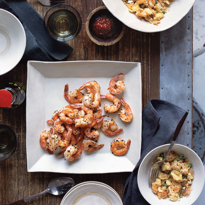 Salt and Pepper Shrimp with Thai Fried Rice