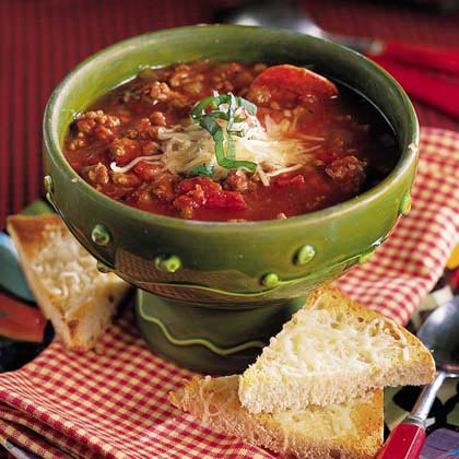 Italian-Style Beef-and-Pepperoni Soup