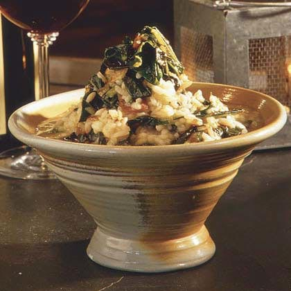Collard Green Risotto and Pot Liquor