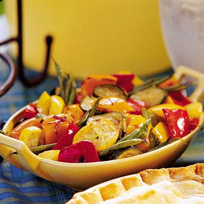 Grilled Marinated Vegetable Salad