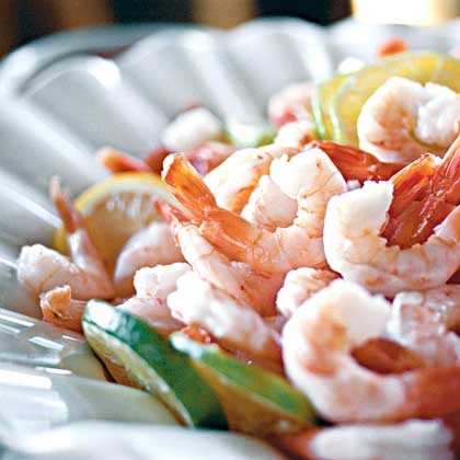 Boiled Shrimp with Rémoulade Sauce and Spicy Cocktail Sauce