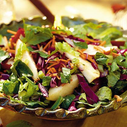 Fresh Pear Salad with Asian Sesame Dressing