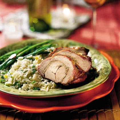 Grilled Pork Tenderloins With Rosemary Pesto
