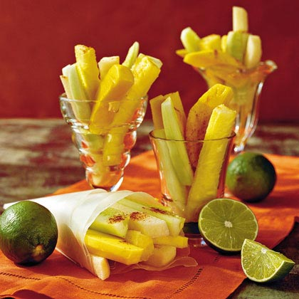 Spicy Fruit and Veggies With Lime