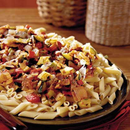 Spicy Vegetables With Penne Pasta