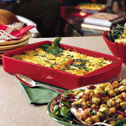 Crabmeat-and-Spinach Lasagna