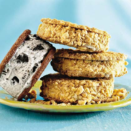 Peanutty Ice-cream Sandwiches