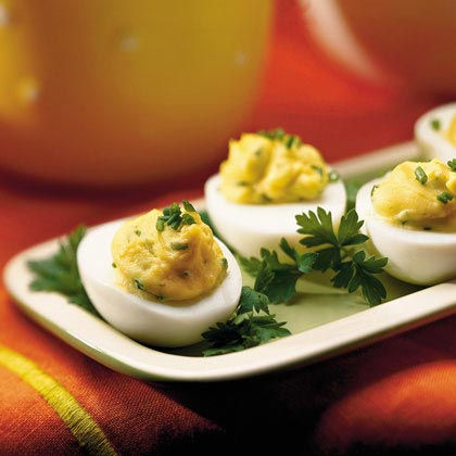 Chive-Tarragon Deviled Eggs