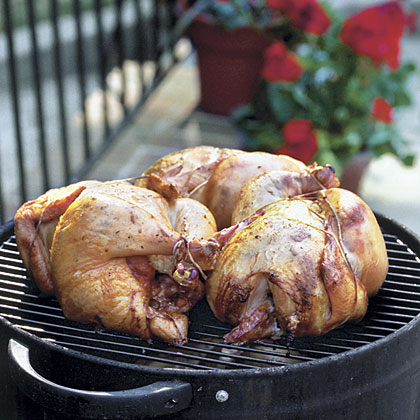 Smoked Lemon-Chipotle Chickens