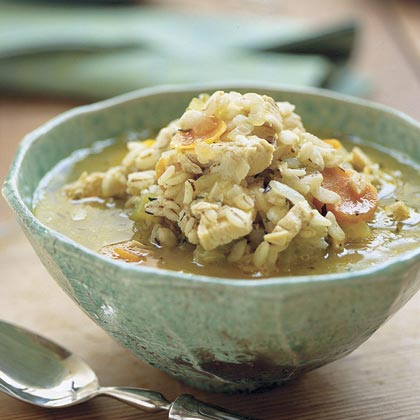 Chunky Chicken-Barley Soup