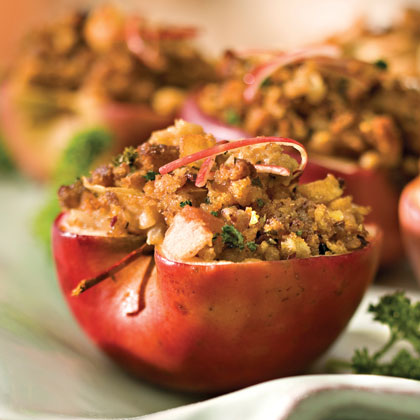 Easy Cornbread-Sausage Stuffed Apples