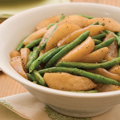 Sautéed Green Beans and Pears